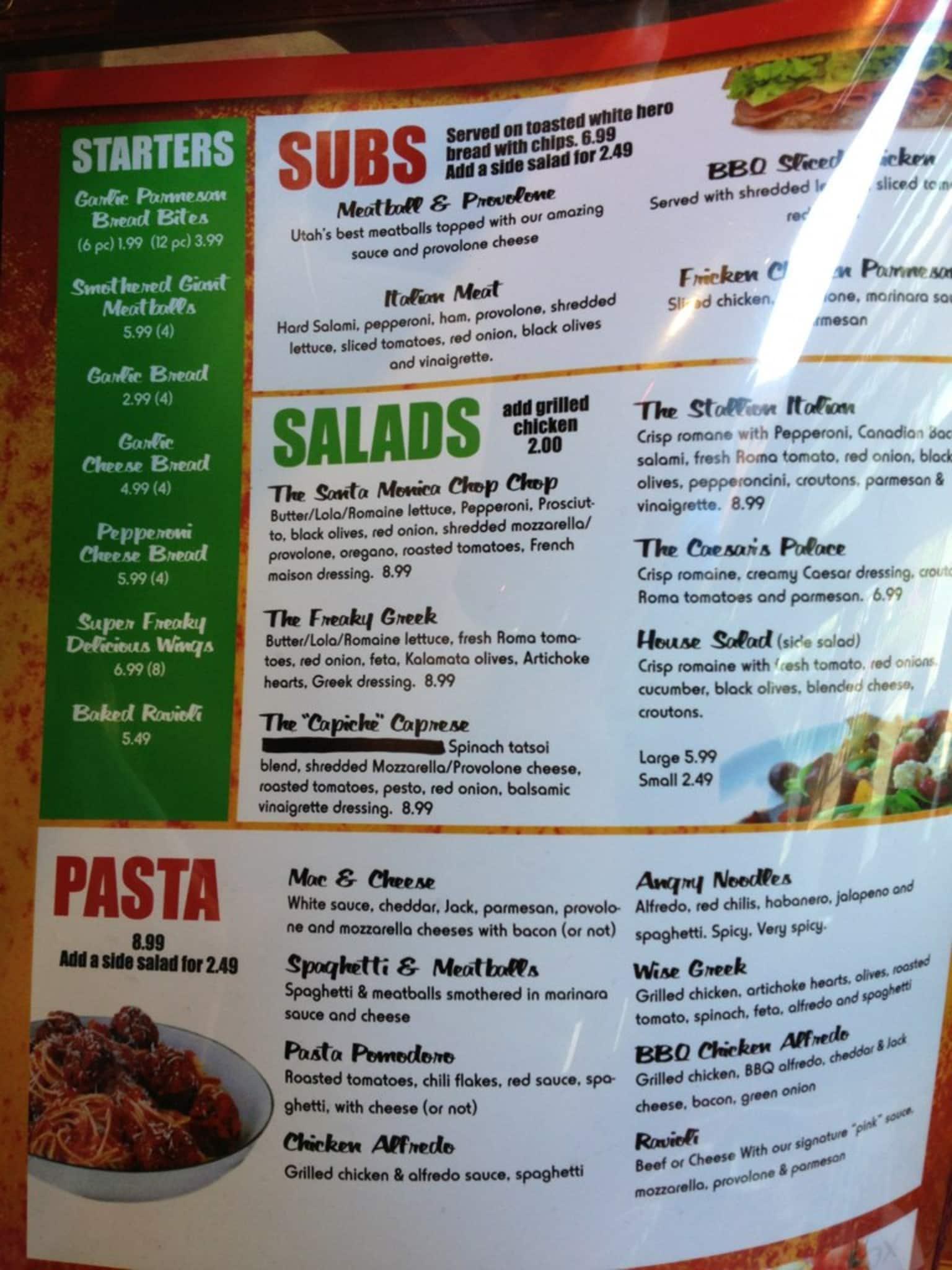 Monica menu