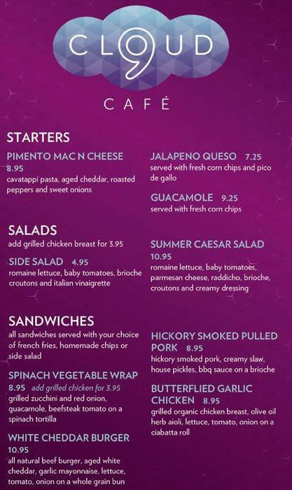 Boulevard Cafe Breakfast Menu