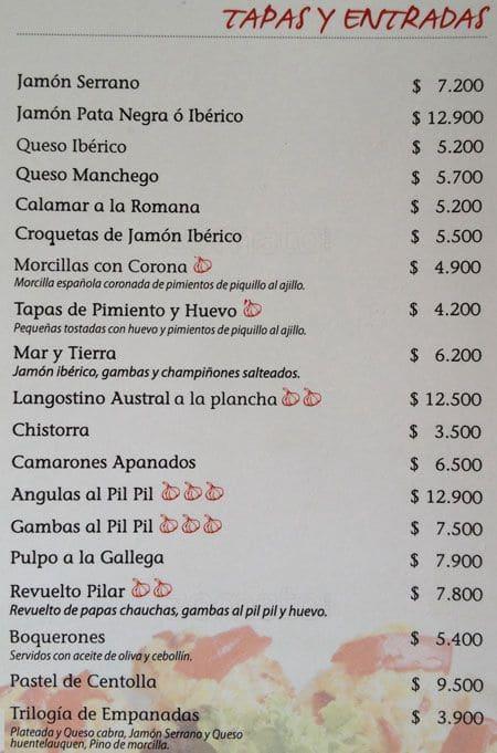 La Cocina de Javier - Restaurant Menu - Zomato Chile