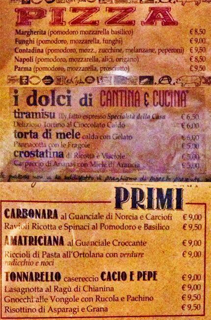 Menu At Cantina E Cucina Pub Bar Rome