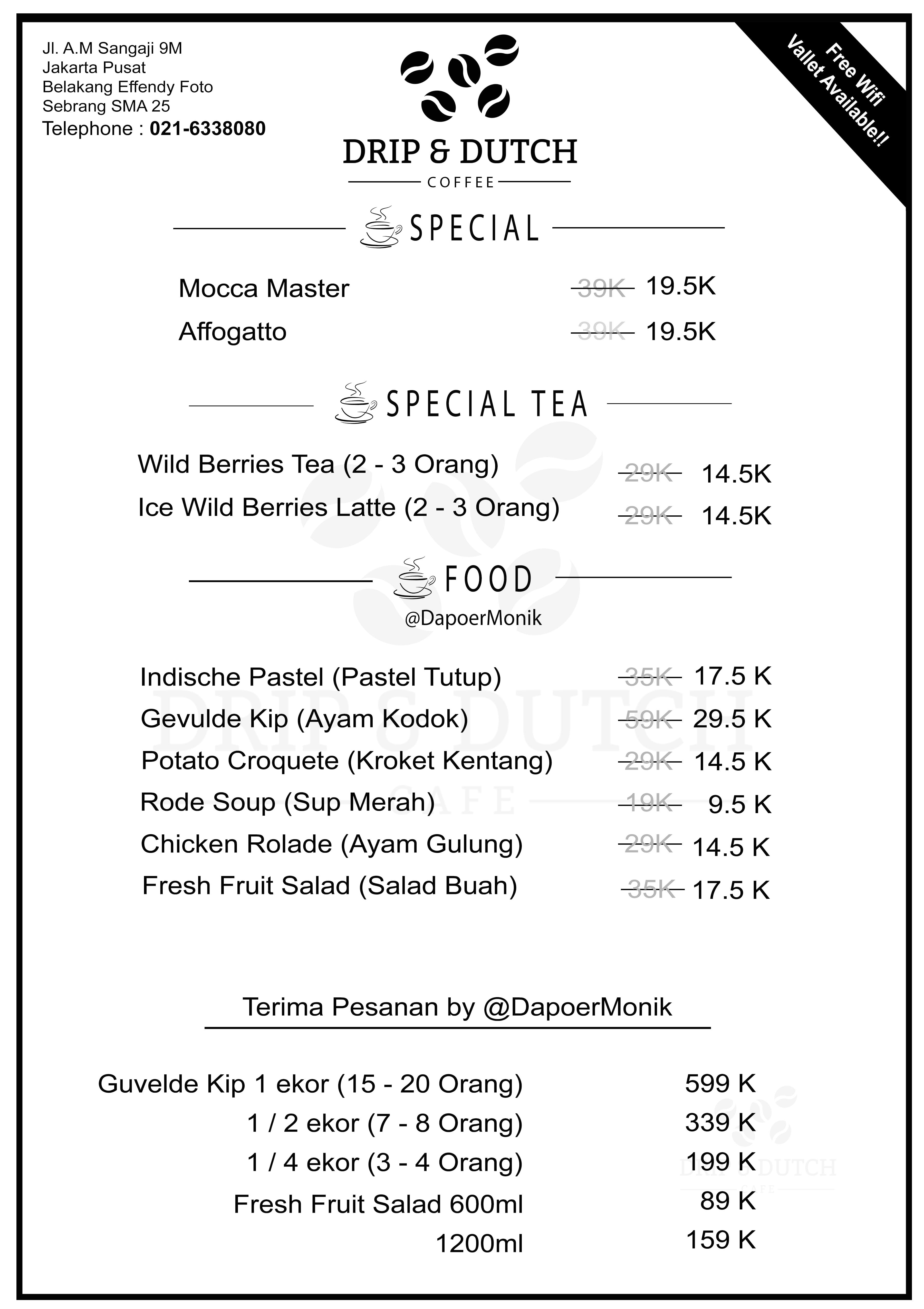 drip dutch menu menu for drip dutch gambir jakarta zomato