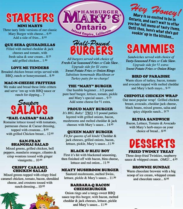 Hamburger Mary S Menu Drinks