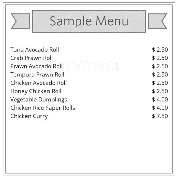 sushi garden menu menu for sushi garden cannon hill. Black Bedroom Furniture Sets. Home Design Ideas