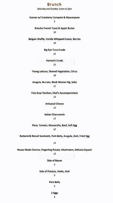 Mistral Kitchen Menu, Menu for Mistral Kitchen, Downtown, Seattle ...