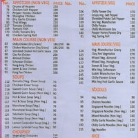 Fusion kitchen sarita vihar new delhi zomato scanned menu for fusion kitchen stopboris Choice Image