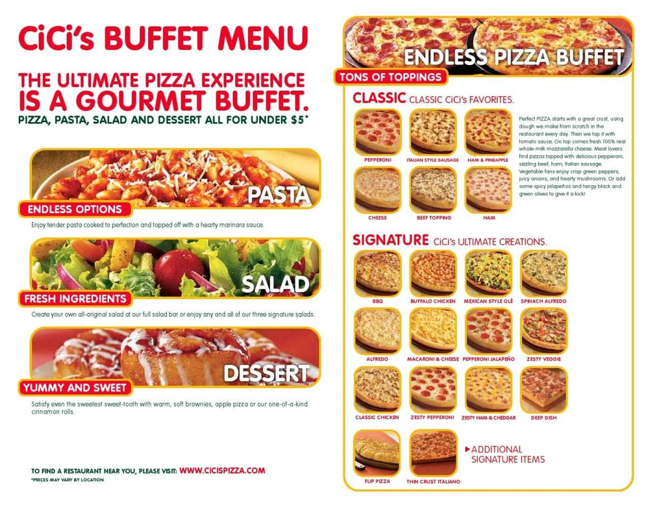cicis menu menu for cicis hialeah miami urbanspoon zomato rh zomato com pizza hut buffet miami ok pizza buffet miami beach