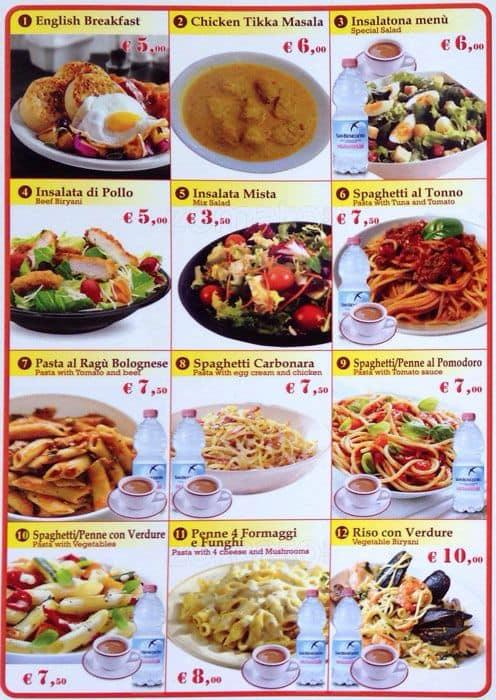 Indian Halal Restaurant Esquilino Termini Menu