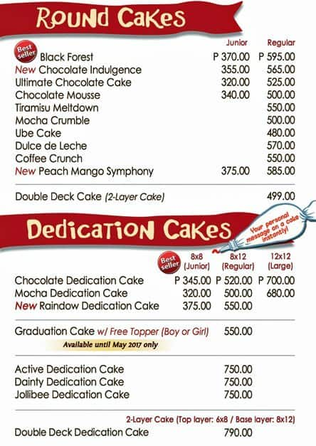 Red Ribbon Mango Cake Price Philippines
