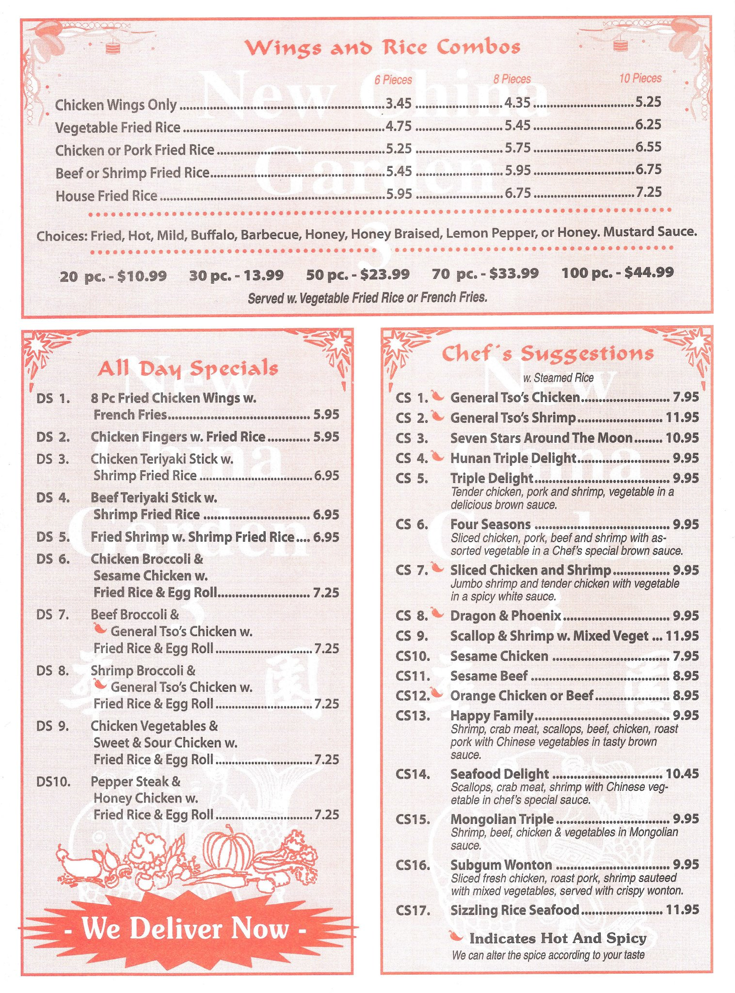 China Garden Menu Menu For China Garden Milledgeville Milledgeville