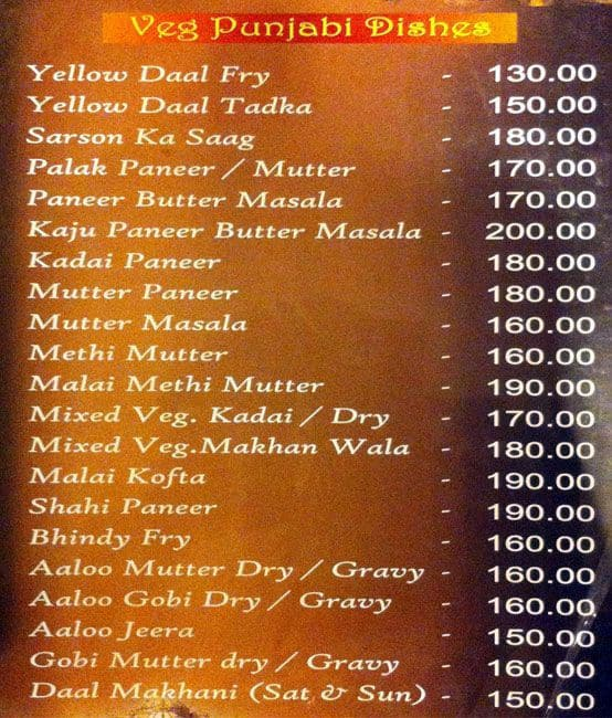 Rajasthani Wedding Food Menu List