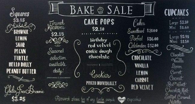 Bake Sale Menu Menu For Bake Sale Etobicoke Toronto Urbanspoon