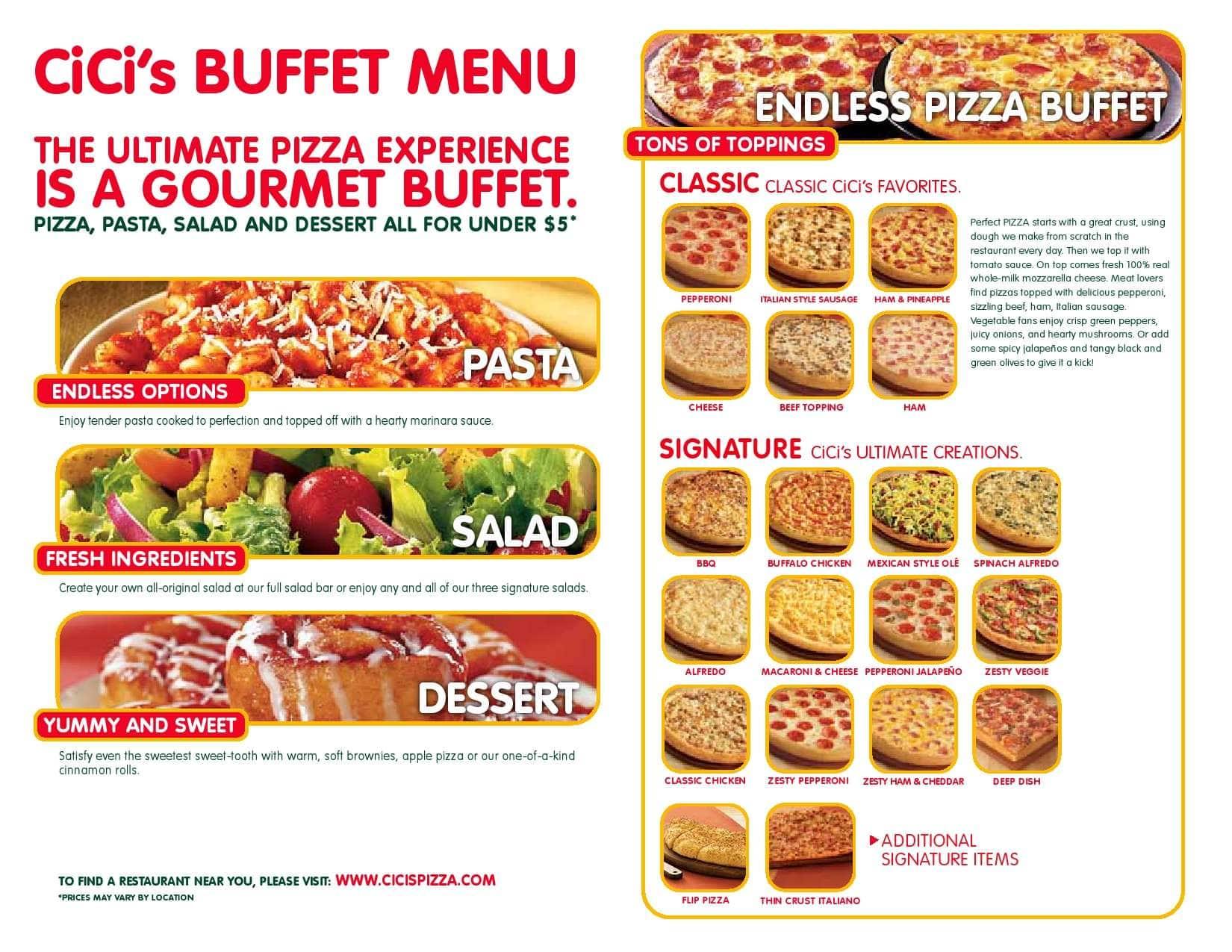 Cici pizza deals