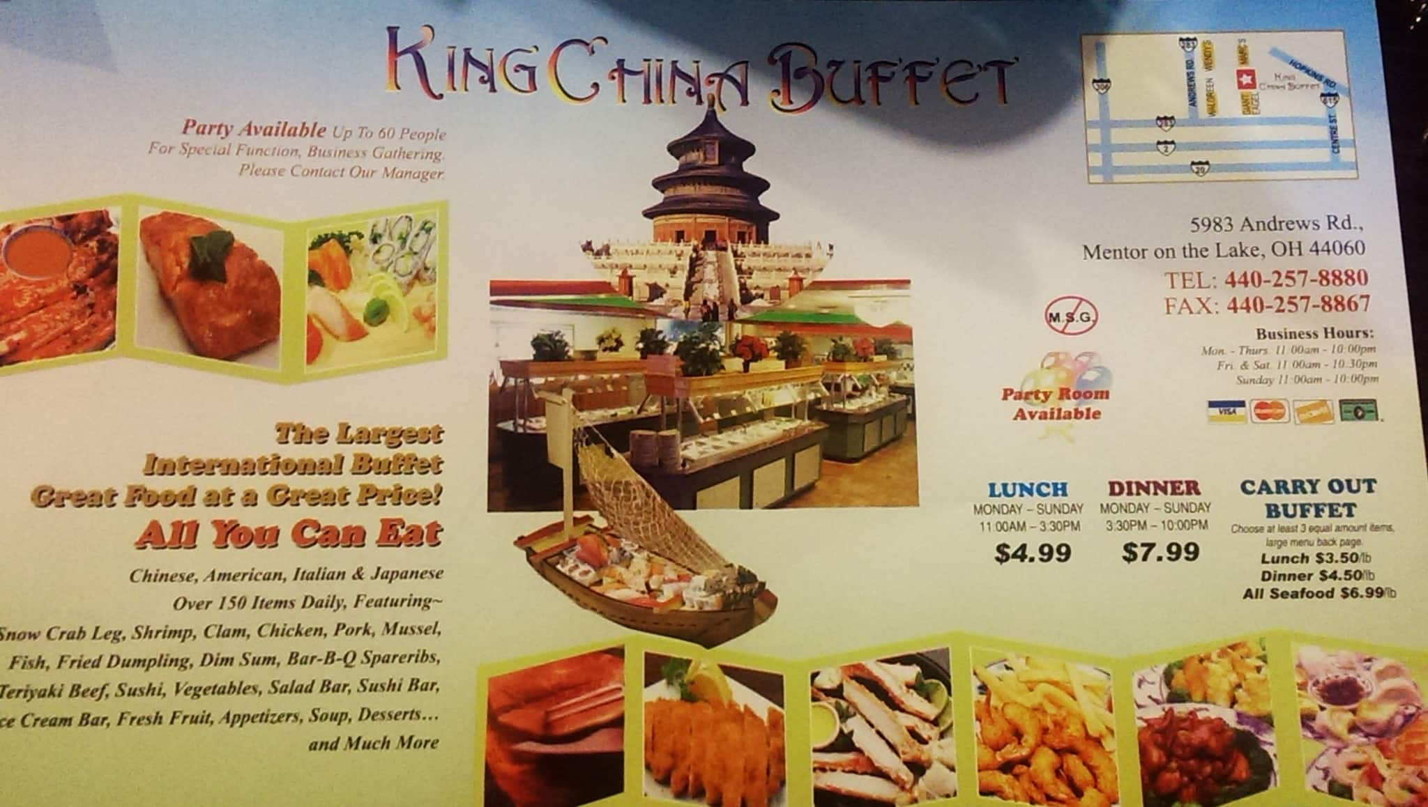 king china buffet menu menu for king china buffet mentor rh zomato com chinese buffet hours near me chinese buffet hours near me