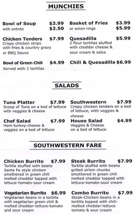 Tnt Country Kitchen Morrison Menu