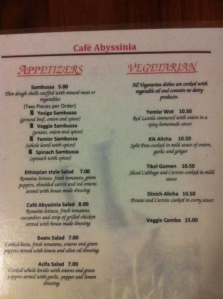 Abyssinia Caf Ef Bf Bd Restaurant