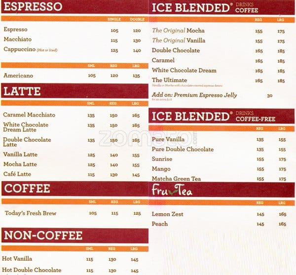 The Coffee Bean amp Tea Leaf Menu Zomato Philippines : 7cbd8c59052338365679db103d9434a7 from www.zomato.com size 600 x 557 jpeg 96kB