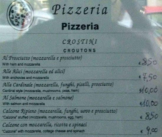 Il tunnel a roma foto del menu con prezzi zomato italia for Il rosso bologna menu