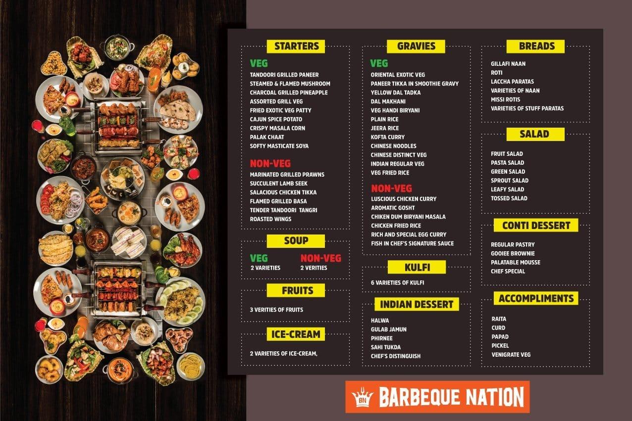 barbeque nation menu menu for barbeque nation gachibowli rh zomato com