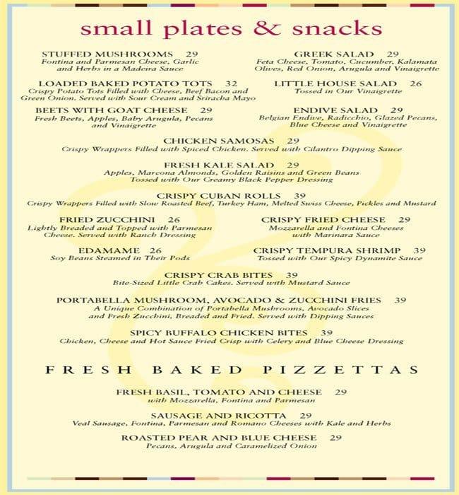 cheese factory menu