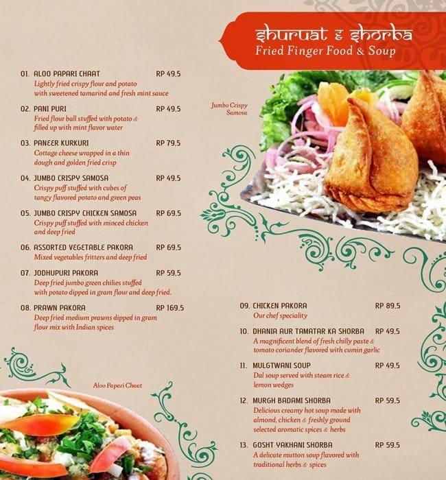 Royal Menu For Indian Restaurant
