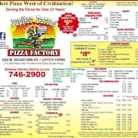Jupiter Farms Pizza Subs Menu