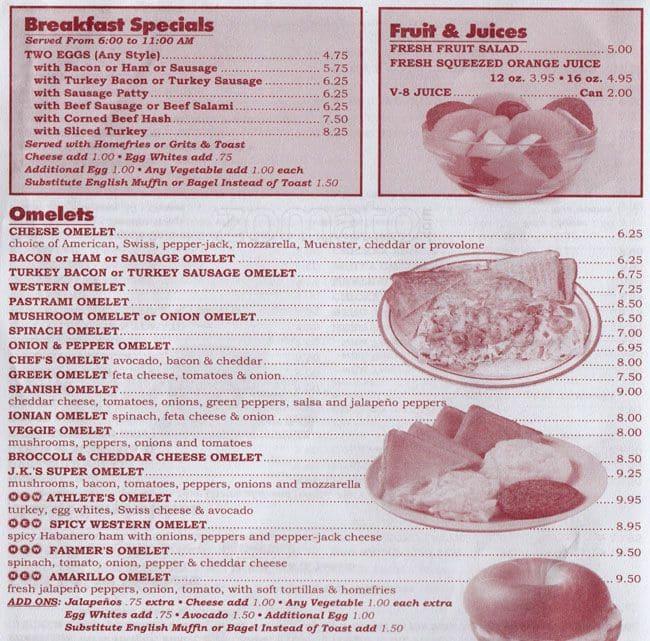 JK Sons Deli Restaurant Bushwick Menu