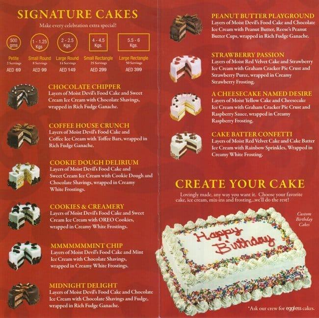 Cold Stone Cake Price Dubai