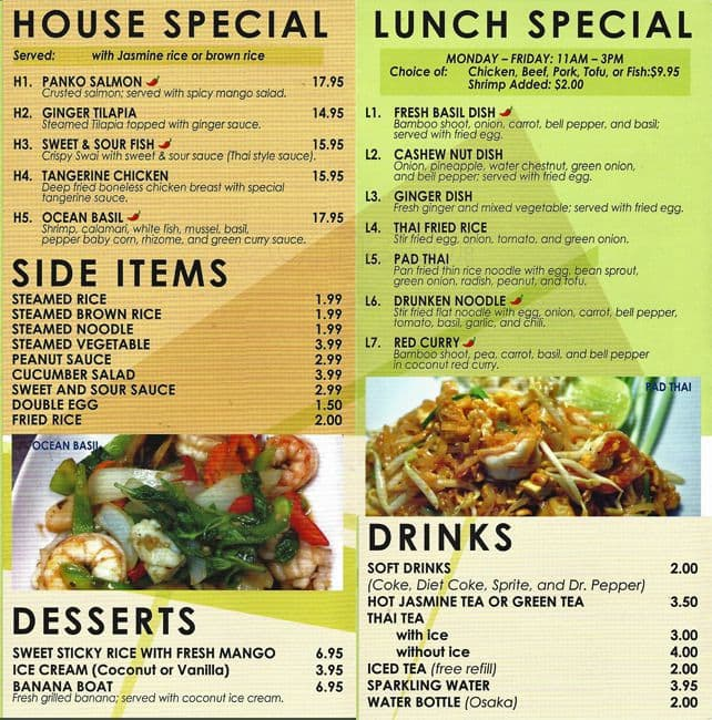 the restaurant information including the thai lotus kitchen menu items and prices may have been modified since the last website update - Lotus Kitchen