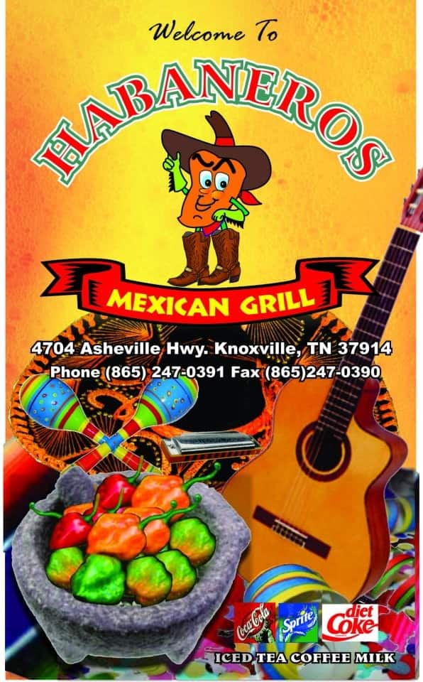 Habaneros Mexican Restaurant East Knoxville Menu