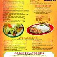 Scanned Menu For Habaneros Mexican Restaurant