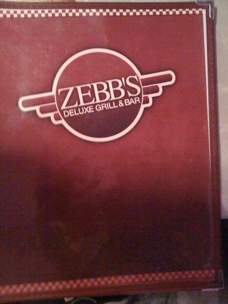 Zebbs Restaurant Menu