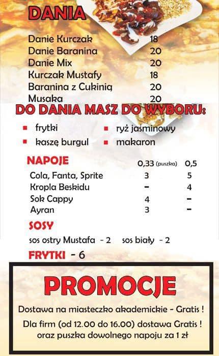 Kebab U Mustafy Menu Menu For Kebab U Mustafy Lublin