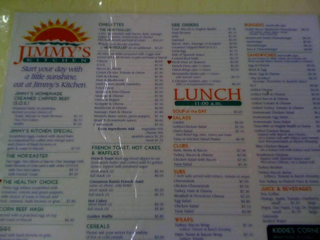 jimmy 39 s kitchen menu menu for jimmy 39 s kitchen fenwick island