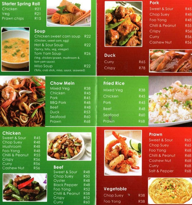 Lucky Chinese Food Prices
