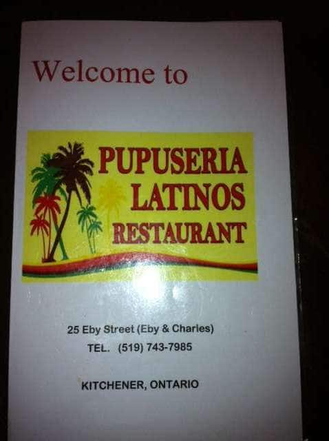 Pupuseria Restaurant Kitchener Menu