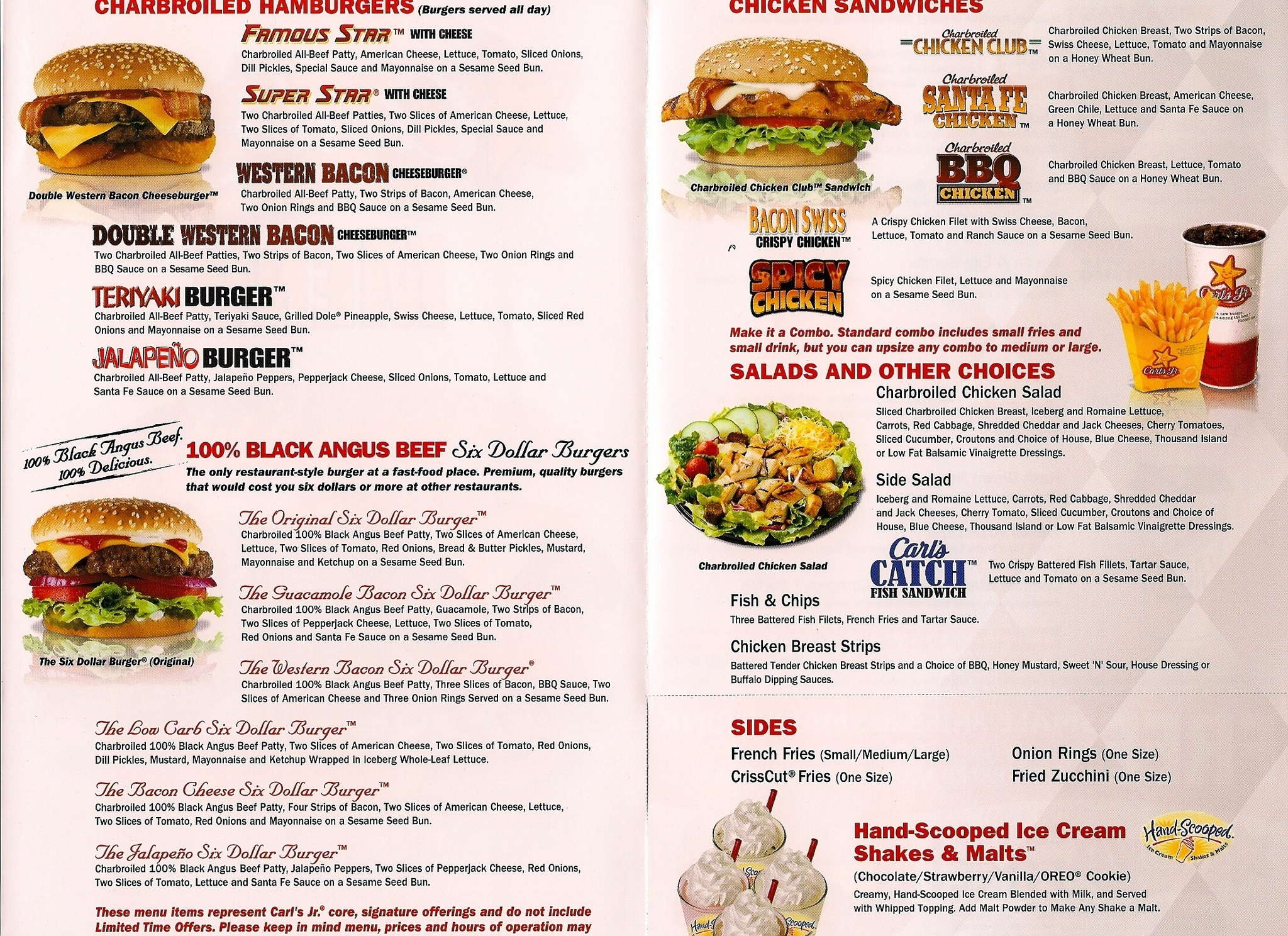 carl's jr. menu, menu for carl's jr., rhodes ranch, las vegas