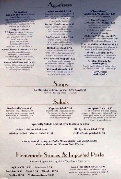 Menu At Abruzzo 39 S Restaurant Melrose Park Division St