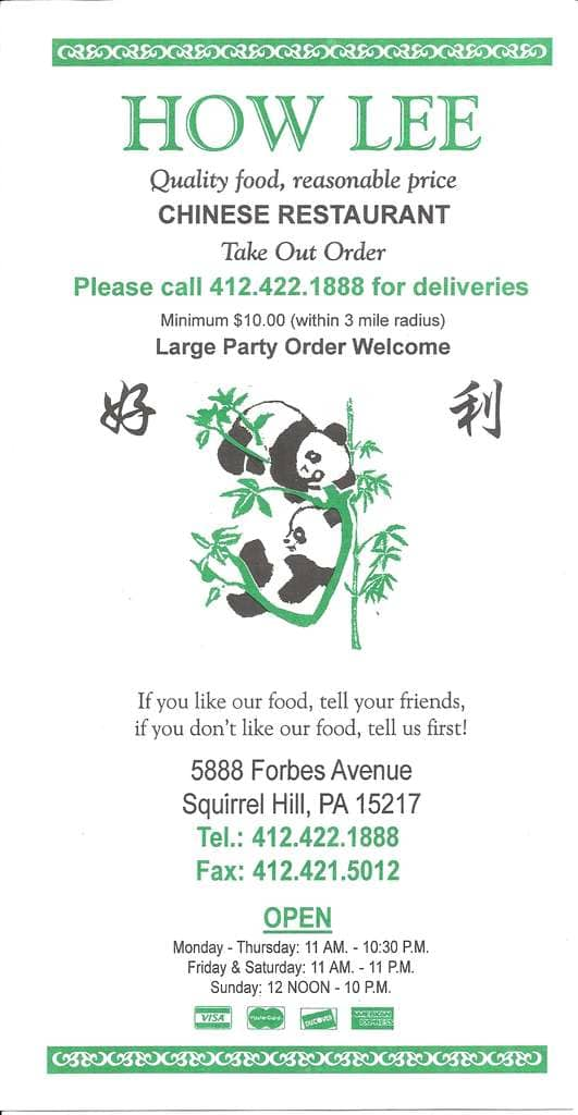 Chinese Restaurants In South Hills Pittsburgh
