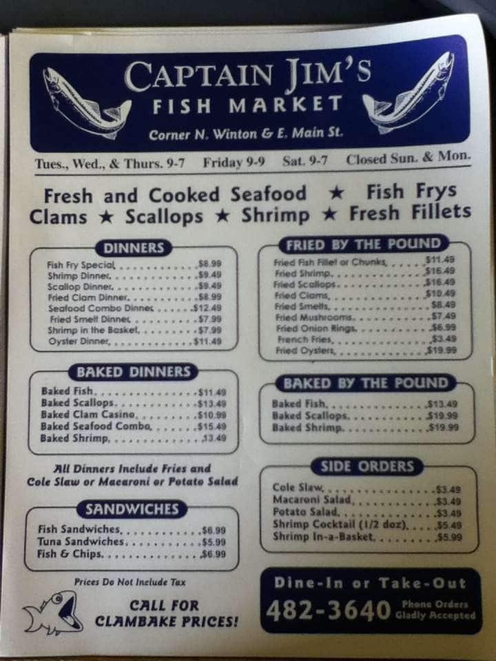 Captain jims fish market menu menu for captain jims fish for One fish two fish menu
