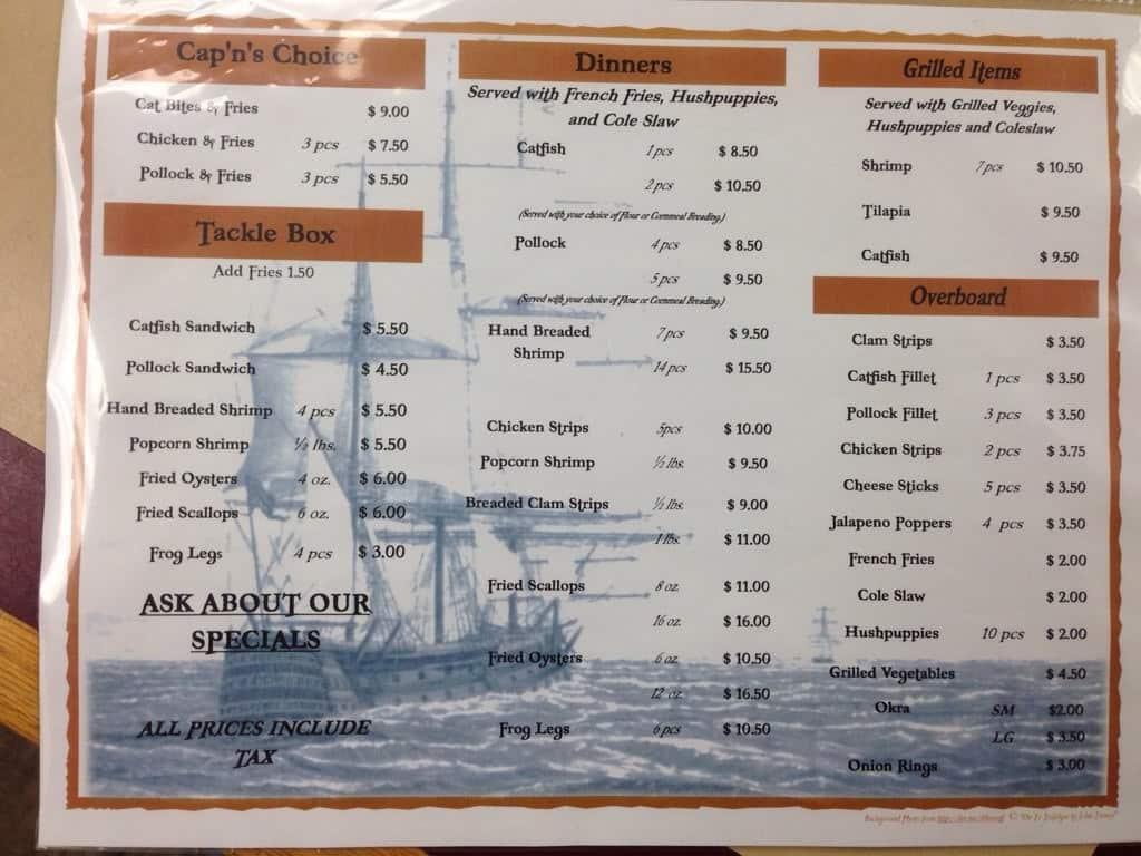 Pirate Pete S Seafood Menu Urbanspoon Zomato