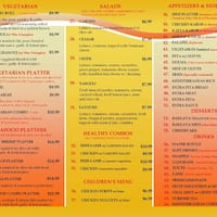 Scanned Menu For Juicy Gyros