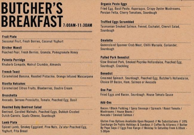 the butcher s block menu menu for the butcher s block