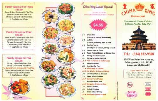 Chinese Food Delivery Montgomery Al