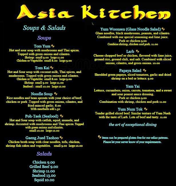 Asia kitchen menu menu untuk asia kitchen far west side for Asia kitchen san antonio tx