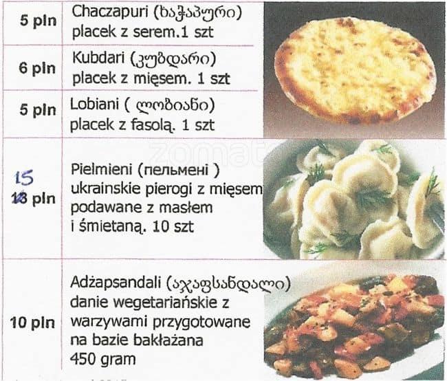 Kuchnia Ukraińska I Gruzińska Menu Gastronaucizomato