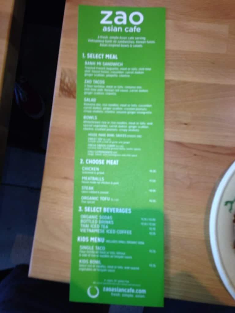 Asian Bento Cafe Menu