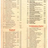 Scanned Menu For Peking Kitchen