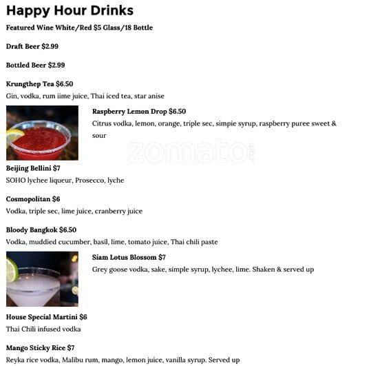 siam lotus asian kitchen bar menu urbanspoon zomato