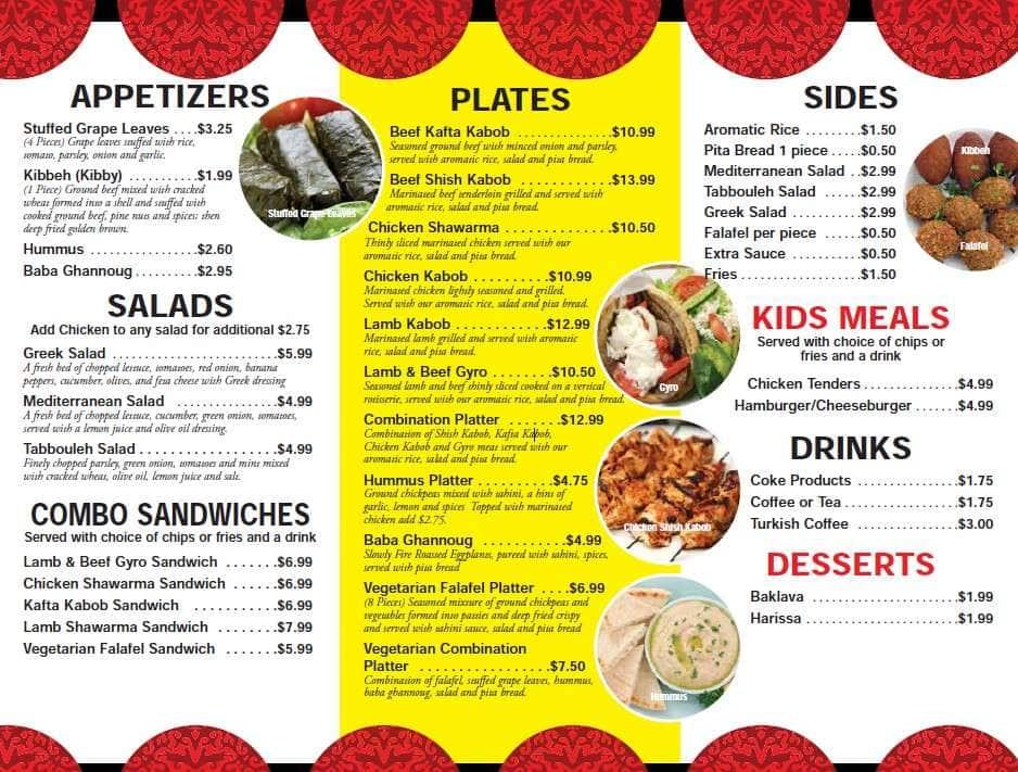 Manna mediterranean grill menu urbanspoon zomato for Mediterranean restaurant menu