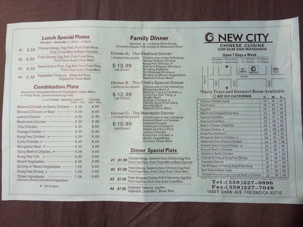 New City Chinese Cuisine Menu Menu For New City Chinese Cuisine